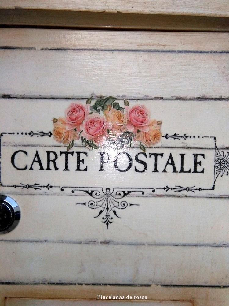 Buzon de arancha 14 pinceladas de rosas - Buzon vintage ...